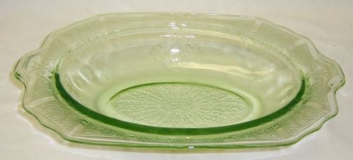 Hocking Green PRINCESS 10 1/4 Inch OVAL HANDLED BOWL