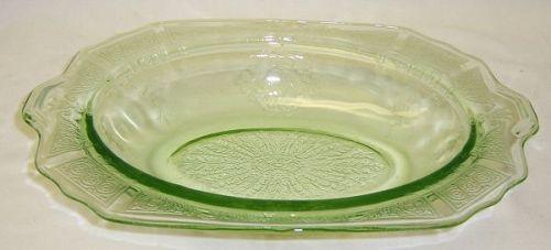 Hocking Green PRINCESS 10 1/4 Inch OVAL HANDLED BOWL