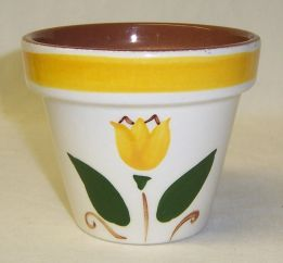 Stangl Pottery Yellow TULIP 3 1/8 Inch High FLOWER POT