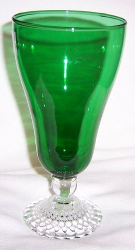Anchor Hocking Fire King Forest Green BUBBLE 7 Inch ICE TEA TUMBLER