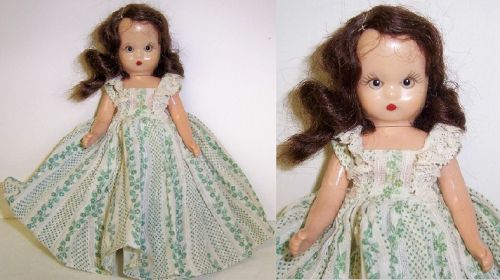 1952 NANCY ANN 5 1/2 Inch Sleepy Eye STORY BOOK DOLL, Blue Dress