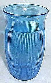 Depression Glass Cobalt FINE RIB 5 In Ice Tea Tumbler