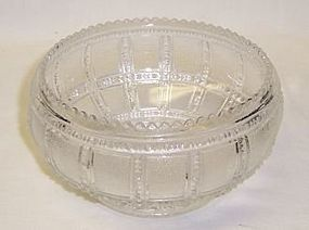 Imperial Crystal BEADED BLOCK 5 1/2 Inch CUPPED BOWL