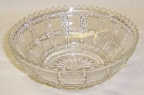 Imperial Crystal BEADED BLOCK 5 1/2 Inch ROUND BOWL