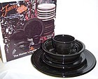 Homer Laughlin Black FIESTA 5-Pc PLACE SETTING, OB