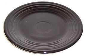 Homer Laughlin Black FIESTA 9 Inch LUNCHEON PLATE