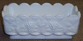 Westmoreland Milk Glass PANELED GRAPE 8.5X3 WINDOW BOX