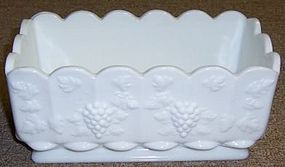 Westmoreland Milk Glass PANELED GRAPE 8.5X4+ WINDOW BOX