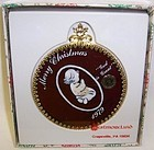 Westmoreland 1979 Red CHRISTMAS ORNAMENT-CHILD-PRAYER