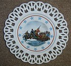 Westmoreland Milk Glass WASHINGTON CROSS DELAWARE PLATE