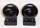 Homer Laughlin Black FIESTA 3 3/4 In CANDLE HOLDERS-Pr