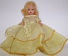 "1952 NANCY ANN 5.5"" Sleepy Eye STORYBOOK DOLL,Yellow"