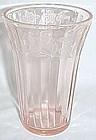 "Jeannette Pink CHERRY BLOSSOM 5"" 10 Oz ICE TEA TUMBLER"