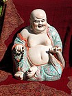 Antique Chinese famille rose Budai or Hotei
