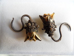Antique Chinese Ming dynasty silver/gold earrings