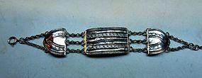 Silver bible lock bracelet