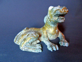 Bronze statue of a mythological lion - China