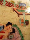 Chinese porcelain tile with erotic scene