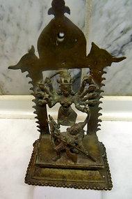 Indian bronze statue of Durga