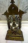 Indian bronze statue of Durga