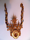 Authentic Maluku fire gilt silver tribal chest piece