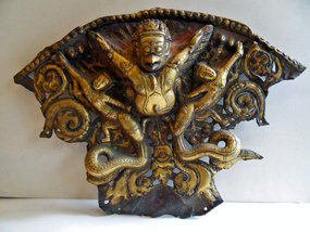 Tibetan copper repousse garuda