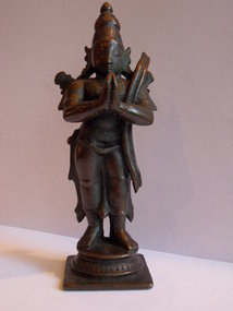 Indian bronze statue of Lakshman
