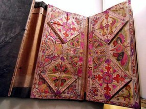 Chinese minority book with embroidery patterns