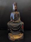 Chinese bronze statue of Buddha Maitreya in meditation
