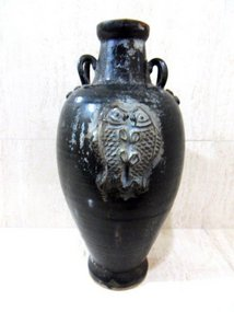 Chinese black-brown glazed Song dynasty wine jar