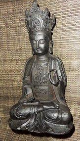 18th. Century bronze Vietnamese Guanyin statue