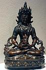 Bronze statue of Buddha Amitayus - Tibet