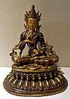Bronze statue of  Buddha Vajrasattva - Tibet