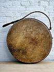 Japanese keyaki wood temple drum
