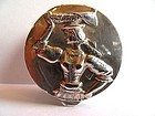 Sterling silver pill box with repousse patterns