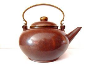 Chinese Yixing pottery teapot - late Qing