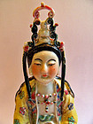 Chinese polychrome porcelain Guanyin