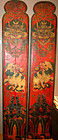 Tibetan temple door panels with dragons and snow lions