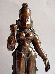 Indian bronze Bhudevi statue