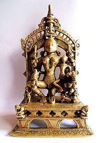 Indian bronze altar piece or shrine