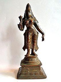 Bronze Lakshmi (Bhudevi) statue - India