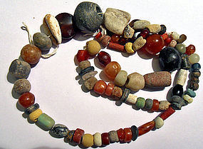 String of stone beads from the New Stone Age