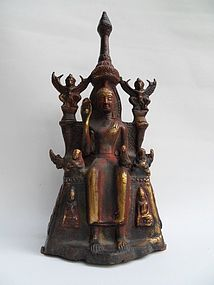 Bronze Thai altar piece - sitting Buddha figure