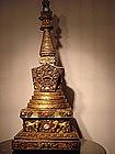 Rare Tibetan chorten or stupa