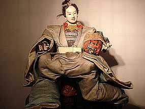 Japanese doll of a high-ranked official-Edo period