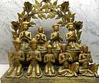 Ritual gilt bronze oil lamp (sekunda) India
