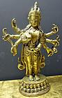 Eight-armed bronze Avalokiteshvara, Tibet