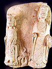 Chinese lime stone Buddha with attendant, Wei style