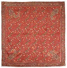 Exceptional Kashmir Embroidery on Silk, India, 19th C.