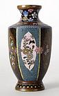 Small Japanese Cloisonne Enamel Vase, Meiji.